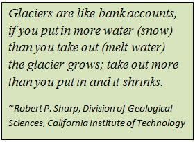 Robert P. Sharp quote on Glaciers